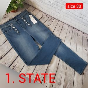 1. STATE High Waisted Button Front Jeans size 30